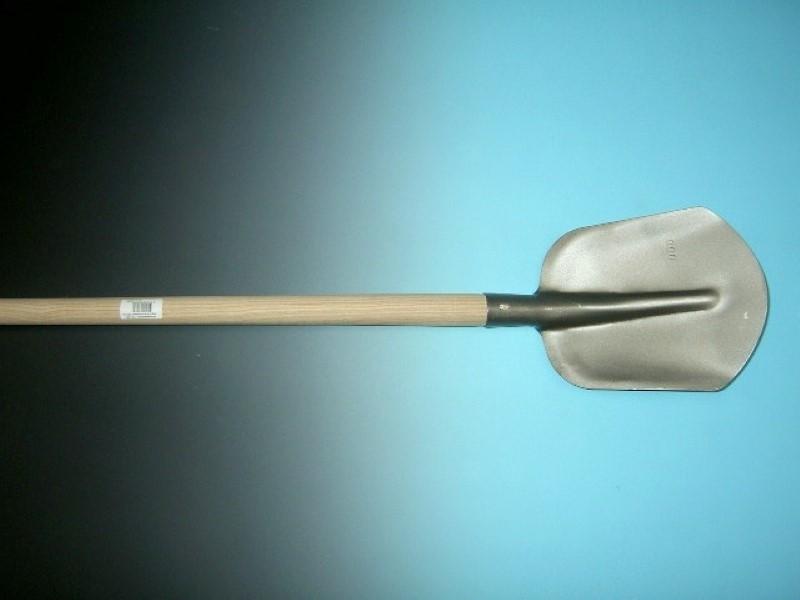 Steekbats 1/4 00 grijs gelakt met essen PE steel 100 cm