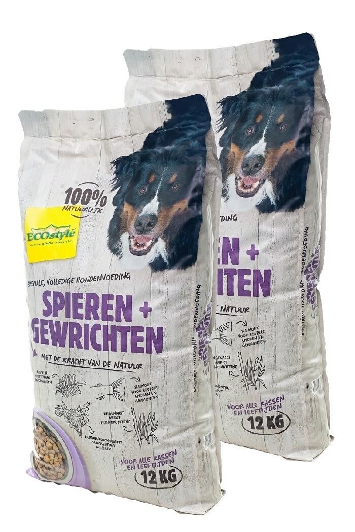 Ecostyle hondenvoer Spieren en Gewrichten duopack 2x12kg
