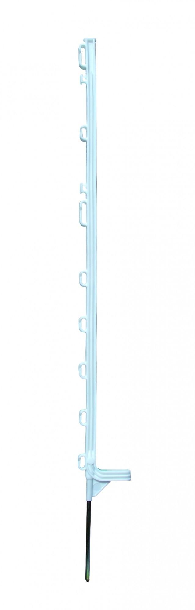 Horizont kunststof weidepaal Extra wit 108cm 10 stuks