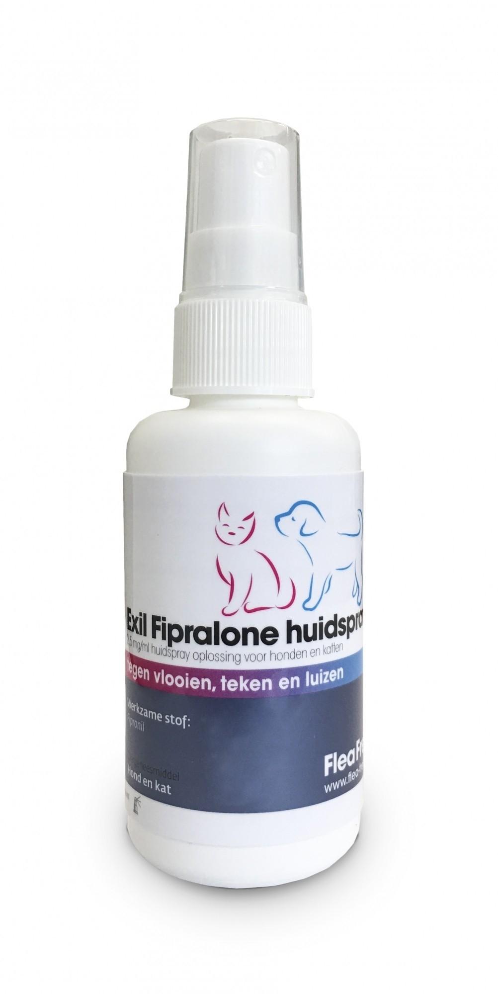 Fipralone vlooien en teken huidspray 100 ml