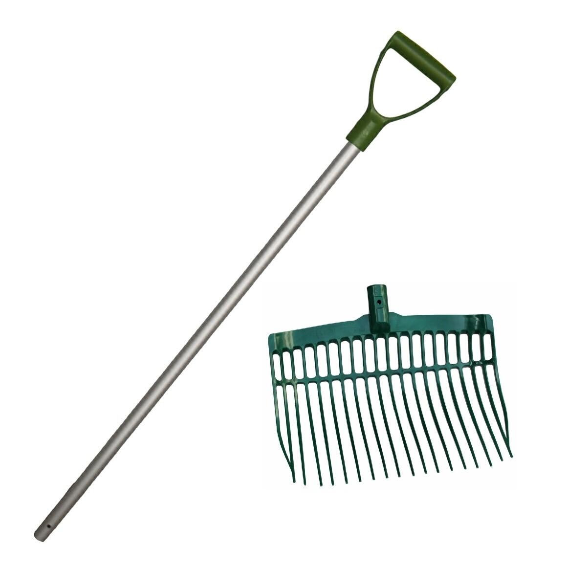 Mestvork / vijgenvork onbreekbaar groen met steel