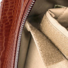 Afbeelding van Socha Business Bag Silvertip Croco Brown 15.6