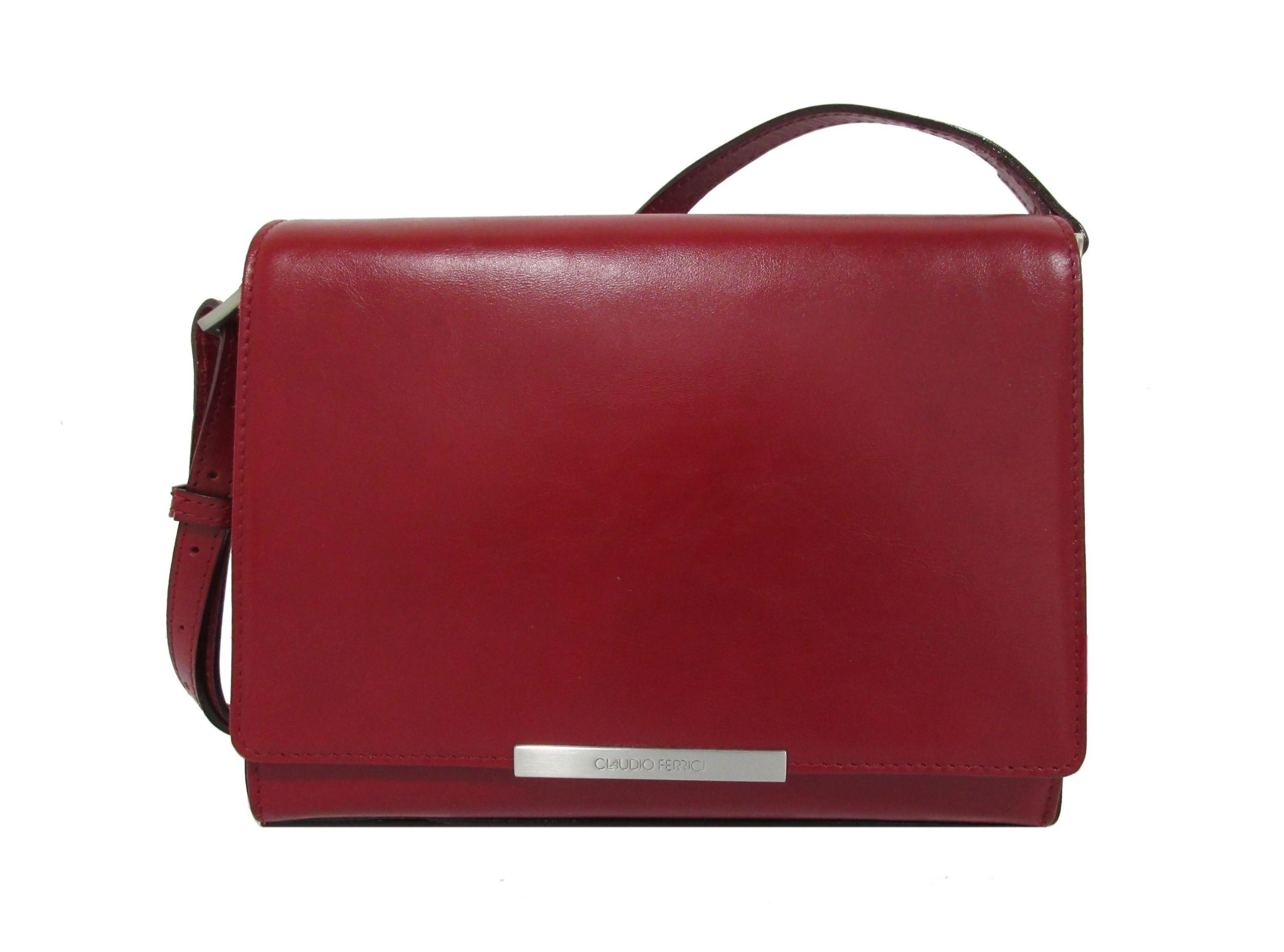 Claudio Ferrici Classico Shoulderbag 18004 Red