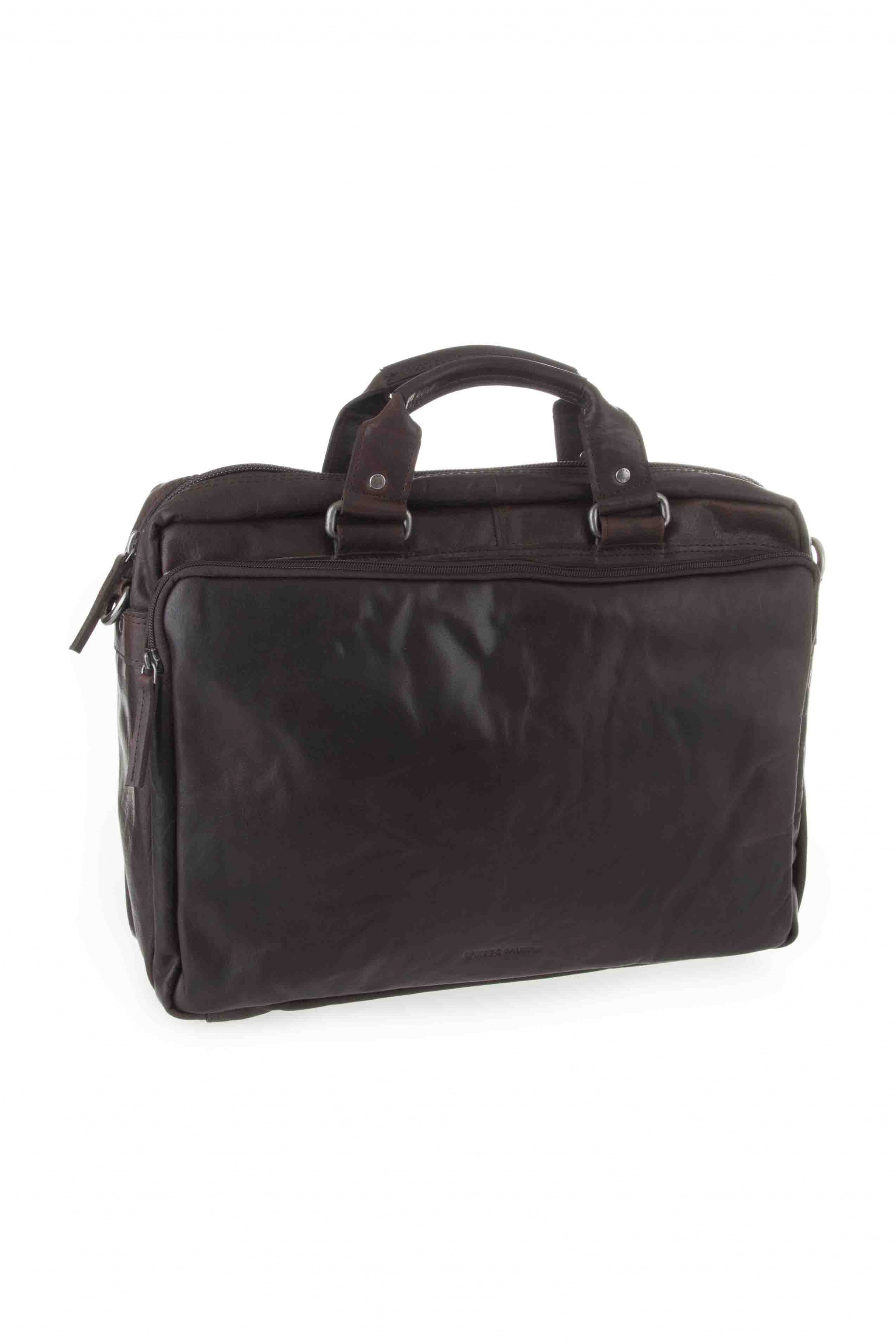 Spikes & Sparrow 3 zipper business bag 23824N Dark Brown