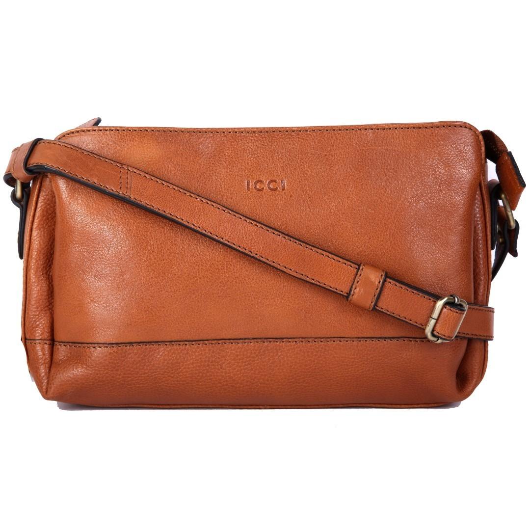ICCI Zip Bag 62043 Cognac