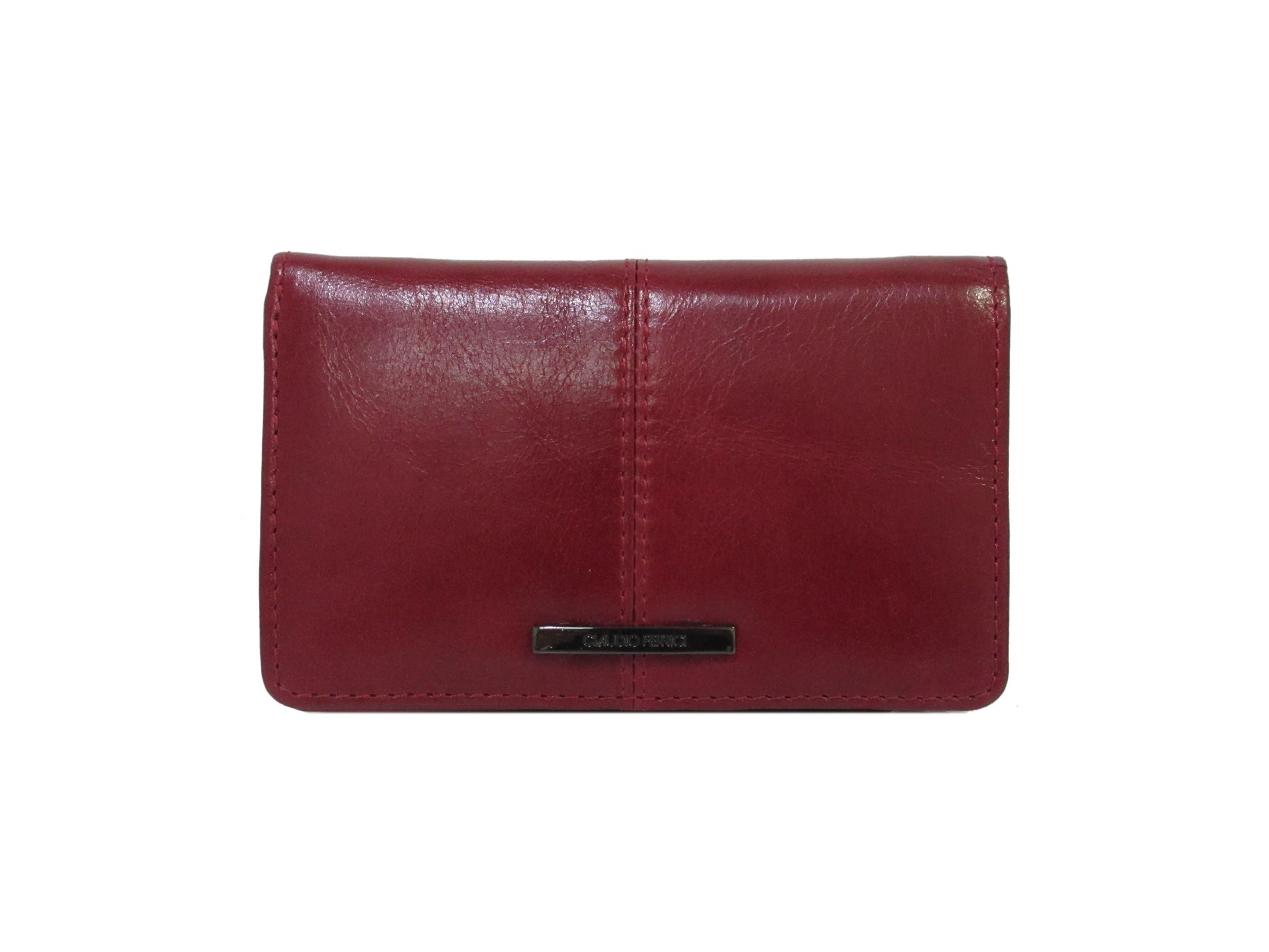 Claudio Ferrici Pelle Vecchia Wallet 22902 Red