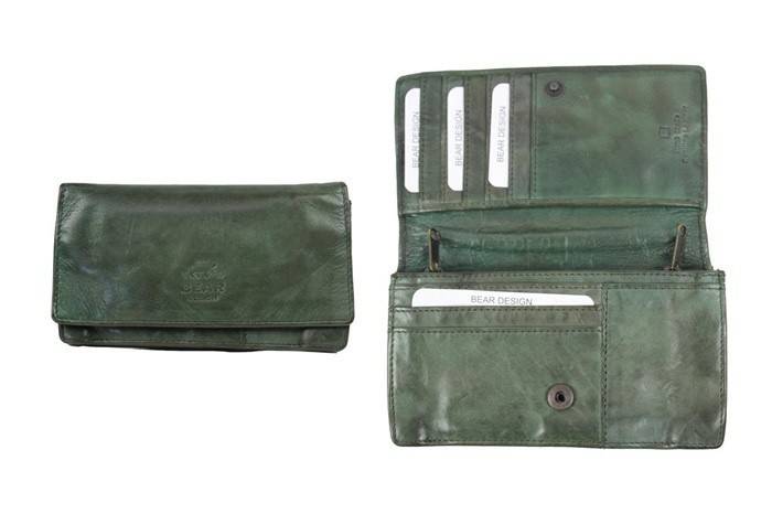 Bear Design Dames Portemonnee 'Gilda' CL782 L. Olijf Groen