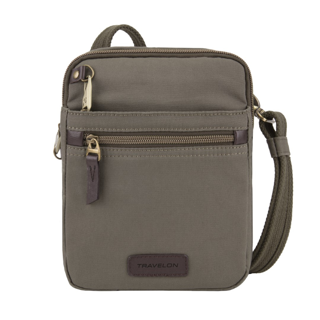 Travelon Anti-Theft Courier Small N/S Slim Bag 33306 Stone