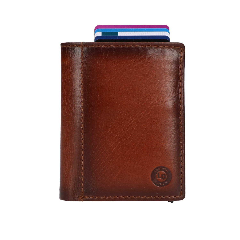 Leather Design Billfold voor Cardprotector PG 2723 Bruin