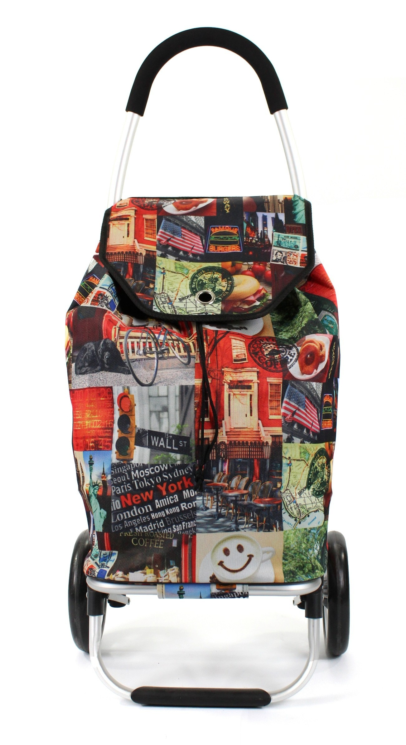 Awesome Bags Foldable Shopping Trolley M18N276 New York Print