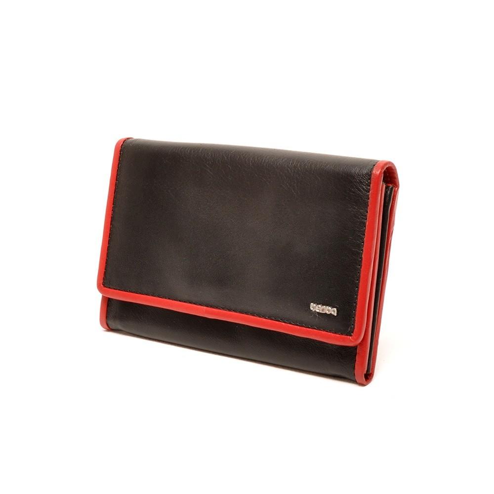 Berba Soft 001-303 Ladies Wallet Black-Red