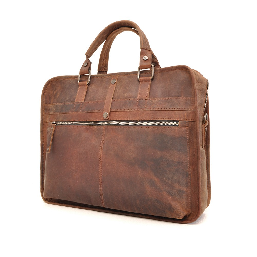 Barbarossa Ruvido 826-129 Single Section Businessbag Coffee