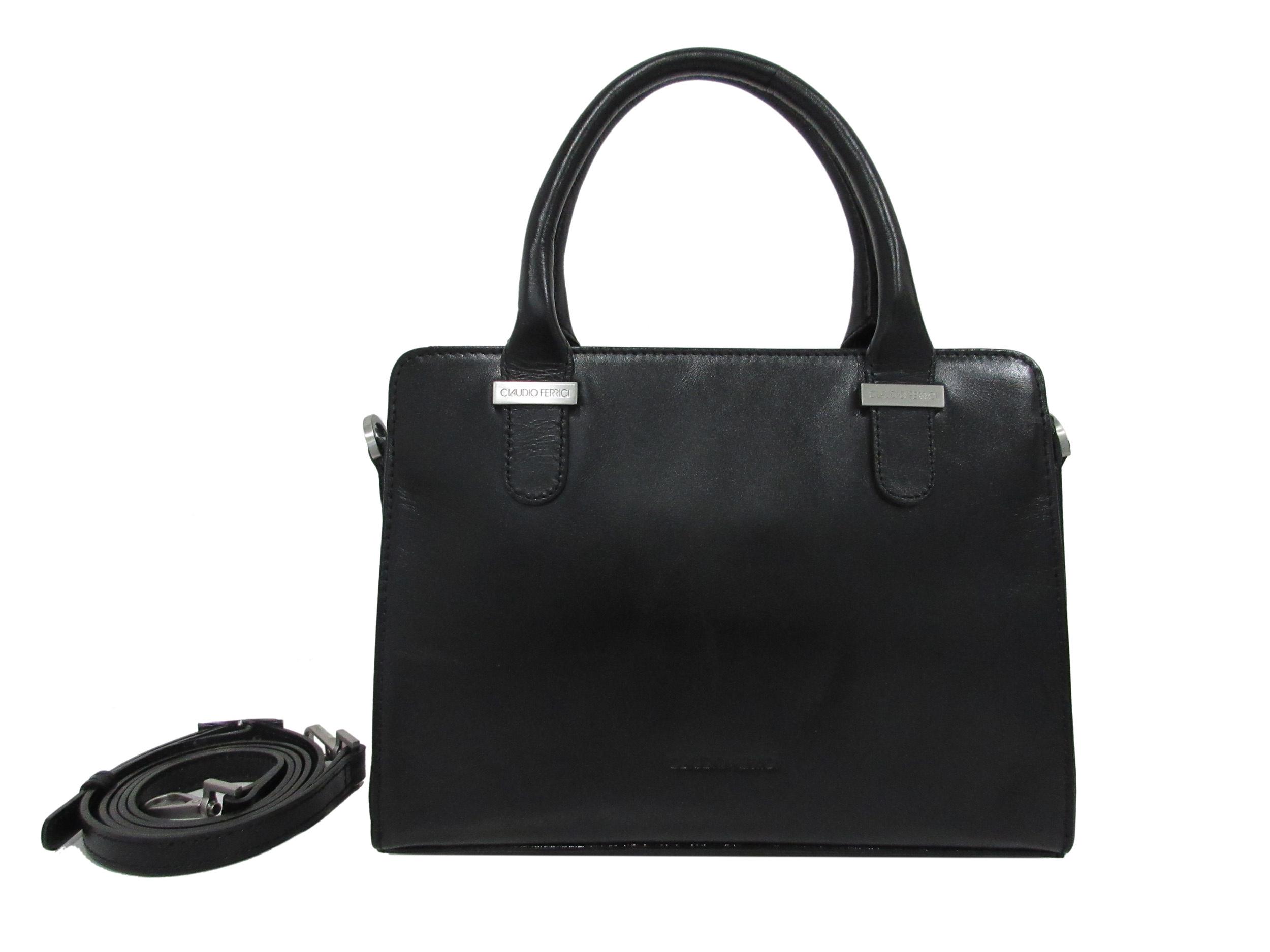 Claudio Ferrici Classico Handbag 18034 Black