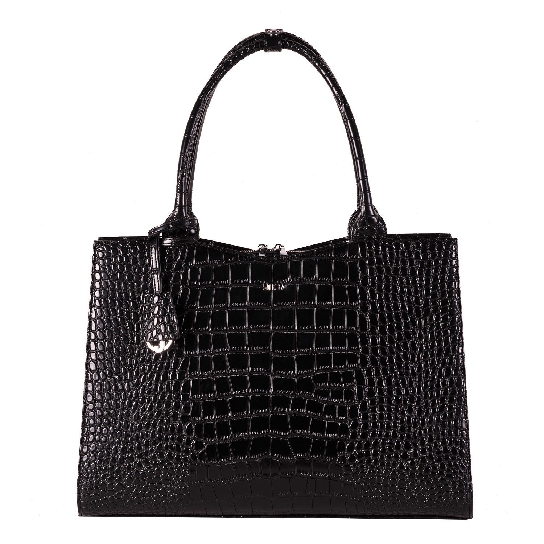 Socha Businessbag Crocodile Jet Black - 14