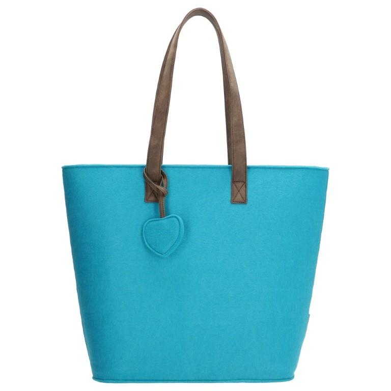 Beagles Dames Vilten Shopper 17536E-Aqua
