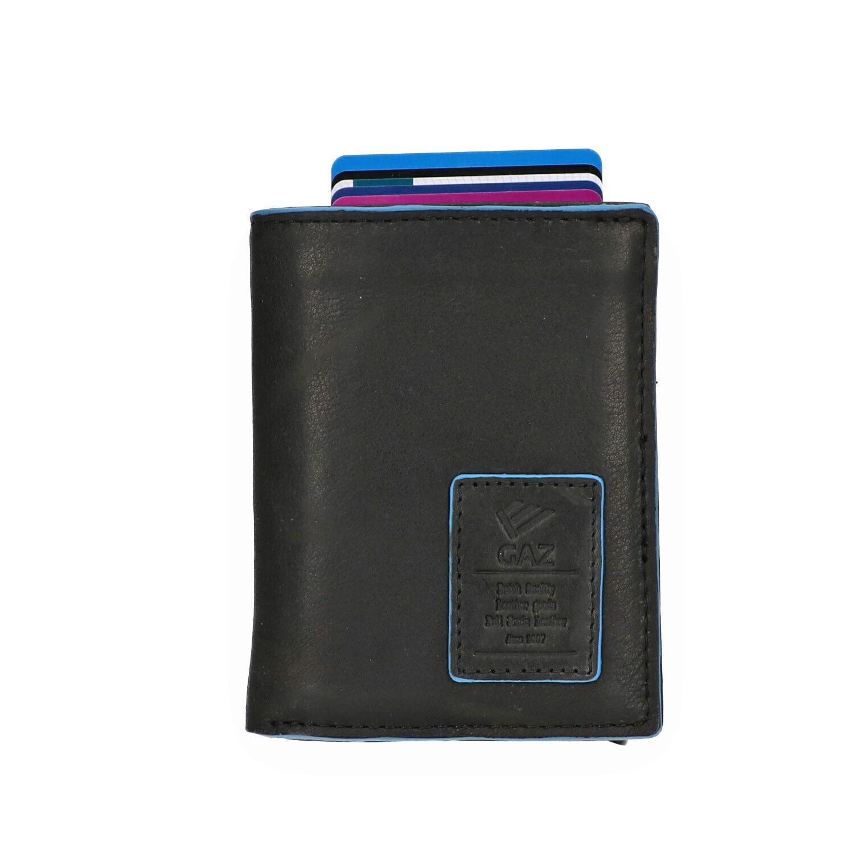Leather Design Portemonnee voor Cardprotector LA 2924/2 Zwart