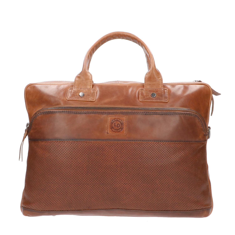 Leather Design 15.6 inch Laptoptas DO20-1880 Tobacco