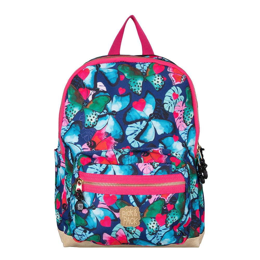 Pick & Pack Beautiful Butterfly Backpack M Navy