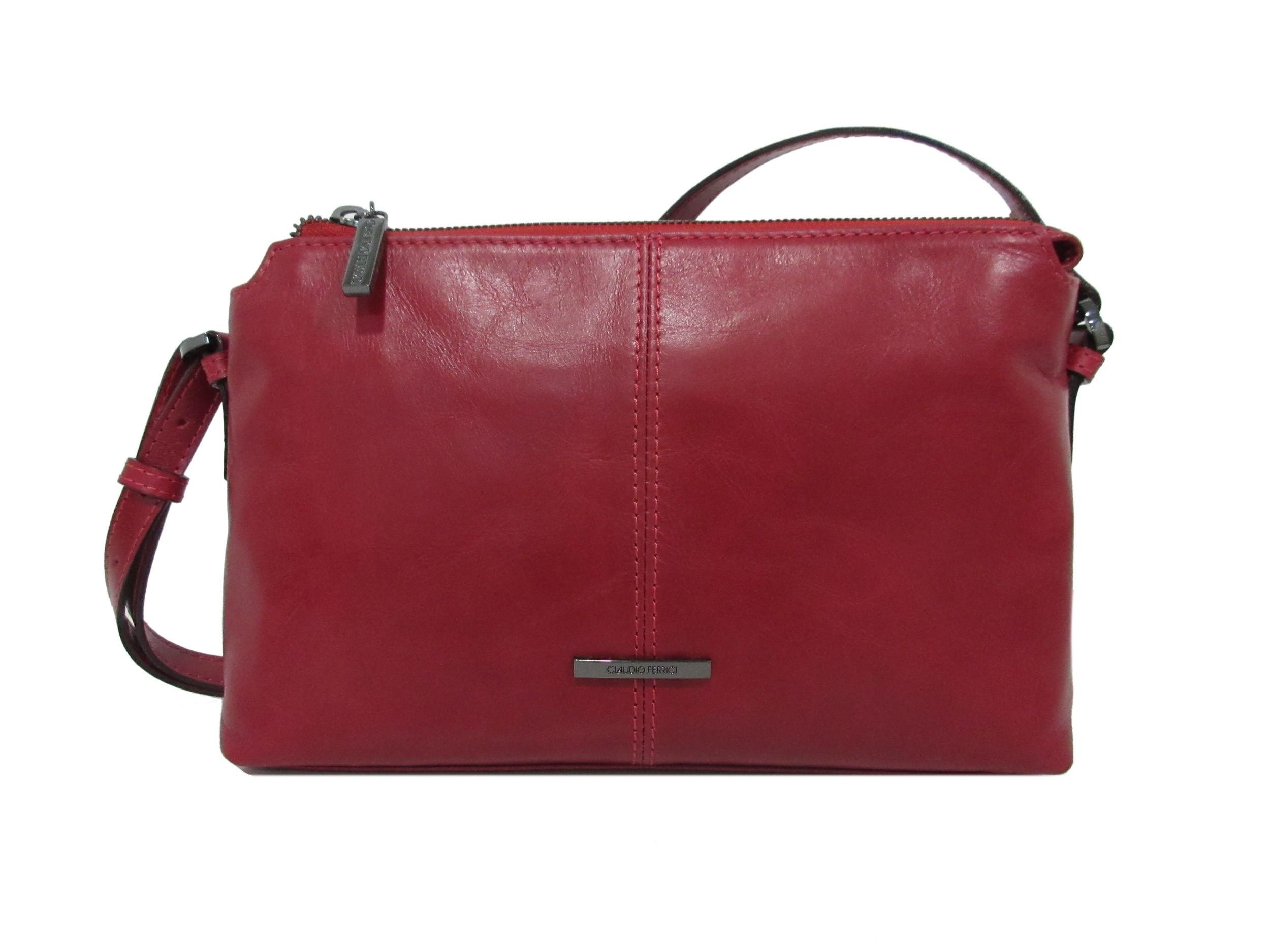 Claudio Ferrici Pelle Vecchia Crossbag 22050 Red