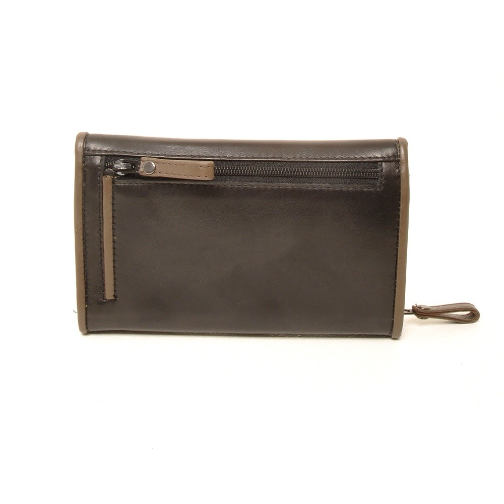 Berba Soft 001 203 Ladies Wallet Black Taupe