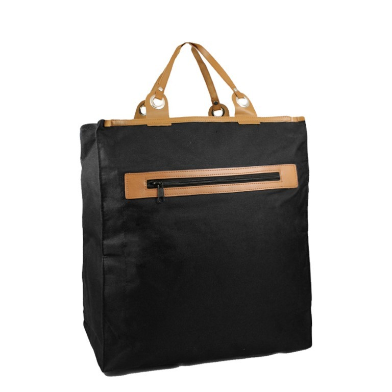 Piace Molto Canvas Boodschappen Shopper 31.1053 Black