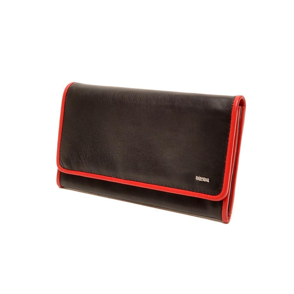Berba Soft 001-403 Ladies Wallet Black-Red