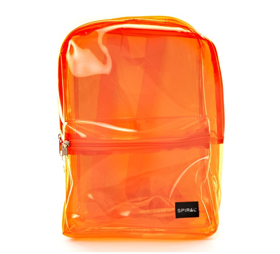 Spiral Mini OG Backpack Transparent Orange