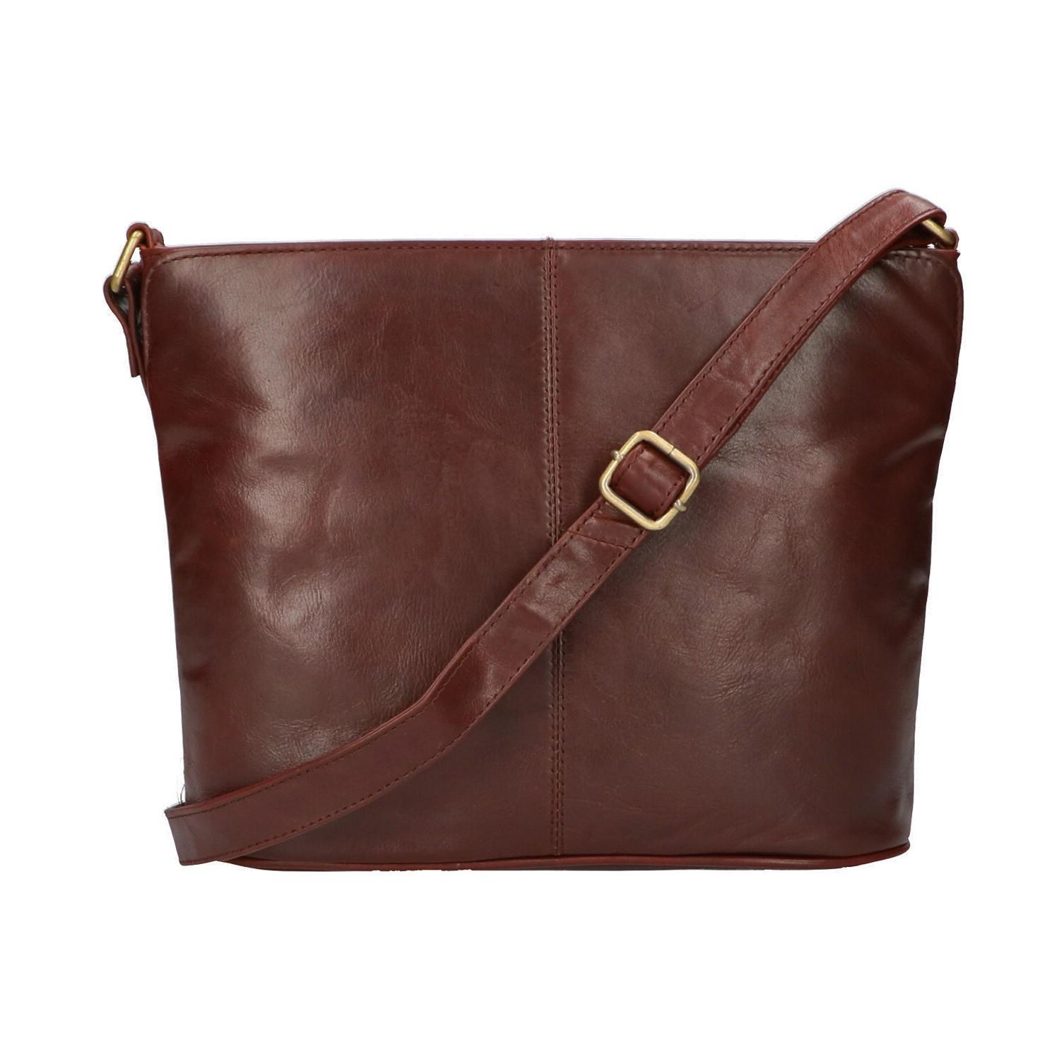 Leather Design Schoudertas CC 1890 Bruin