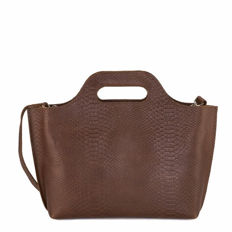 MYOMY MY CARRY BAG Handbag - Anaconda Brandy