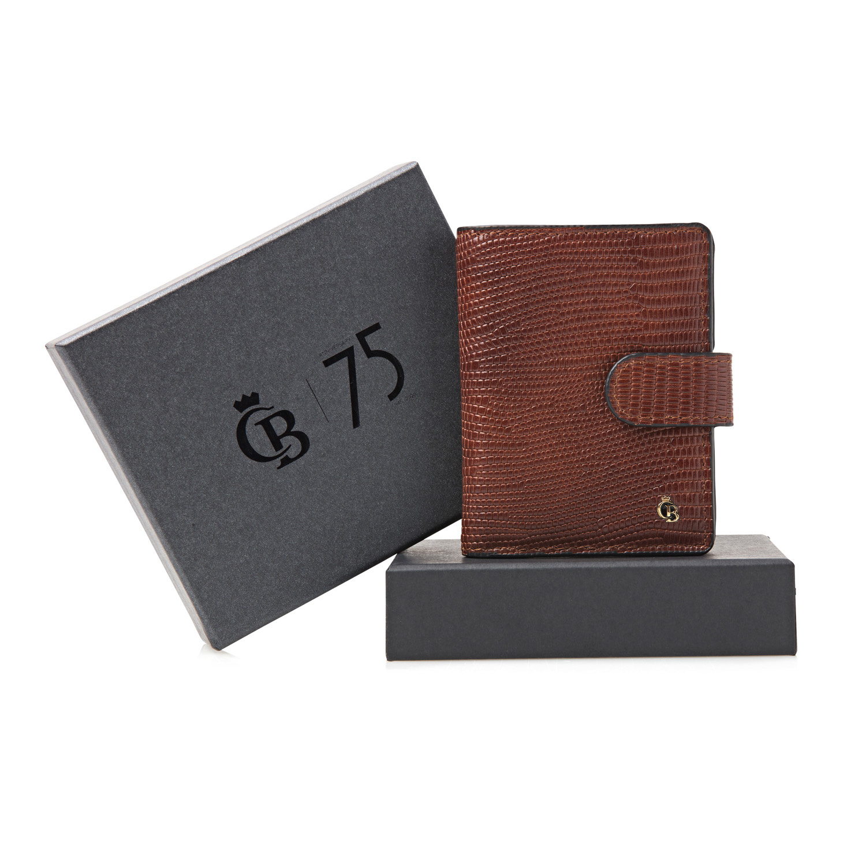 Castelijn & Beerens, Giftbox 80 0856 Mini Wallet Cognac
