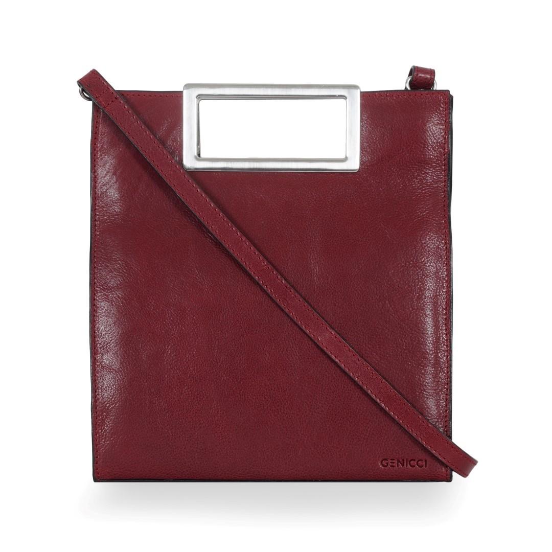 ICCI Metal Handle bag Small 62063 Burgundy