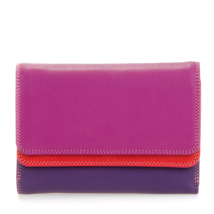Mywalit Double Flap Purse/Wallet Sangria Multi