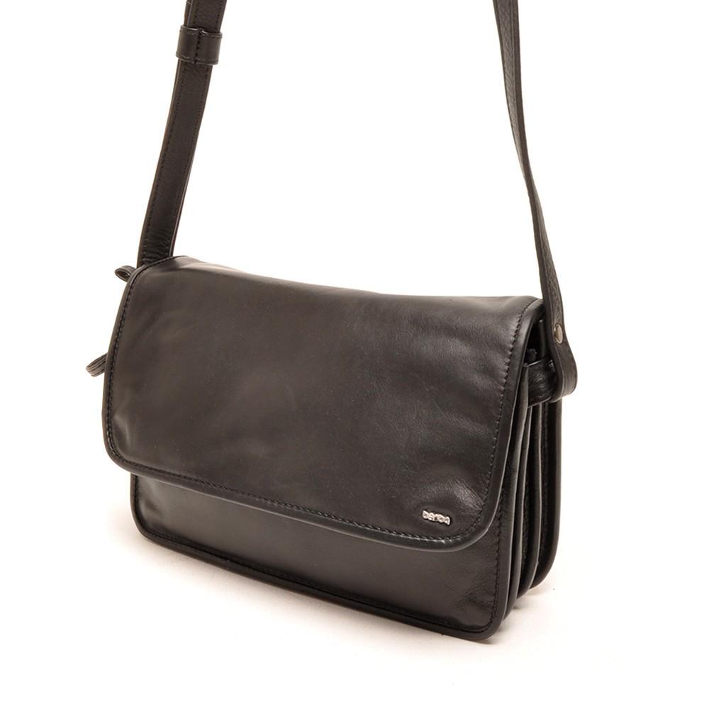 Berba Soft 005-517 Flap Bag Medium Black