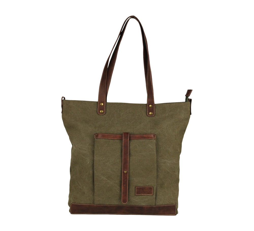Malique Canvas Shopper 530 Olijf