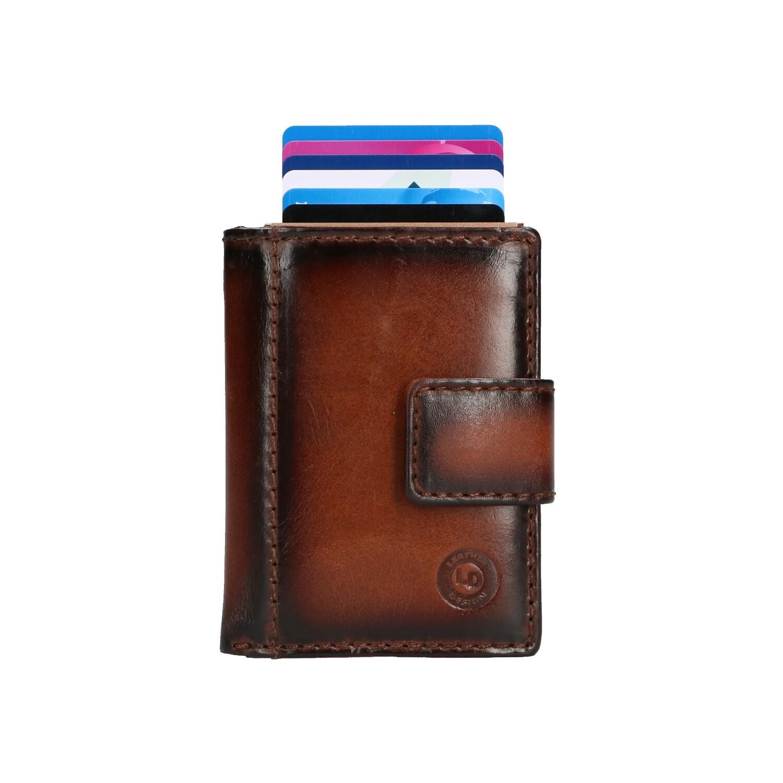 Leather Design Portemonnee voor Cardprotector PG 2924/1 Bruin