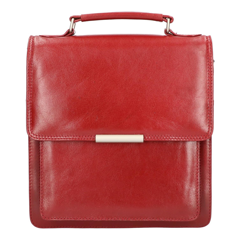 Leather Design Schoudertas CC 1005 Rood
