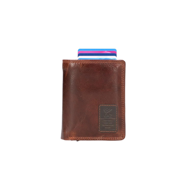 GAZ Billfold voor Cardprotector GA 2723 Bruin
