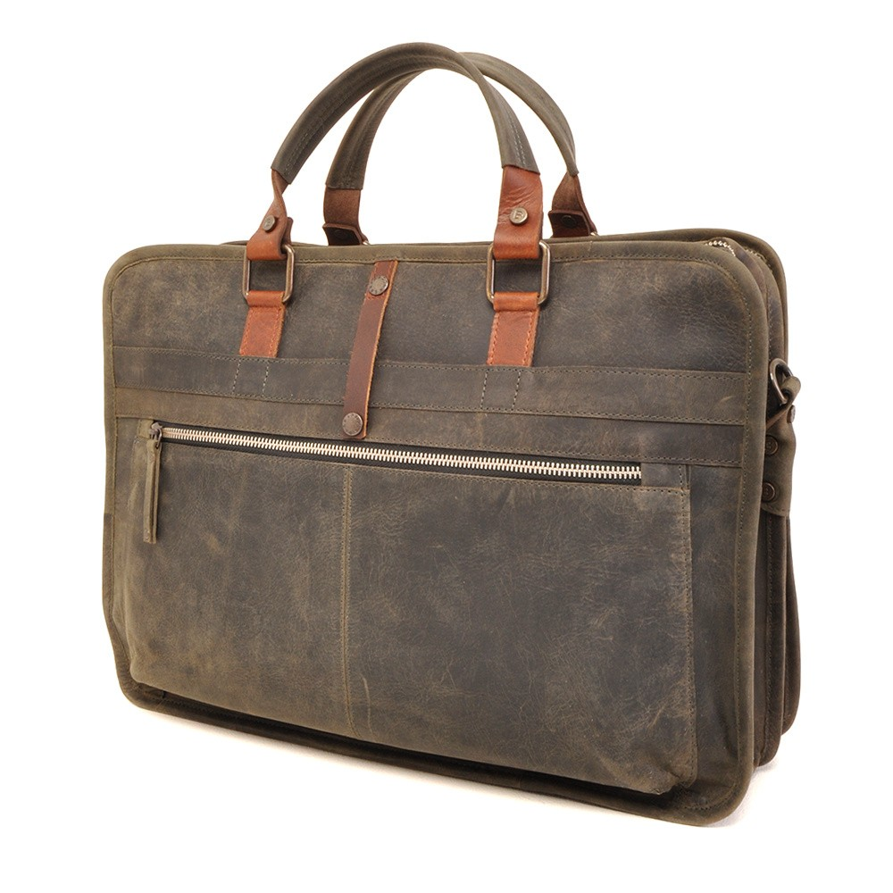 Barbarossa Ruvido 826-132 Double Section Businessbag Military