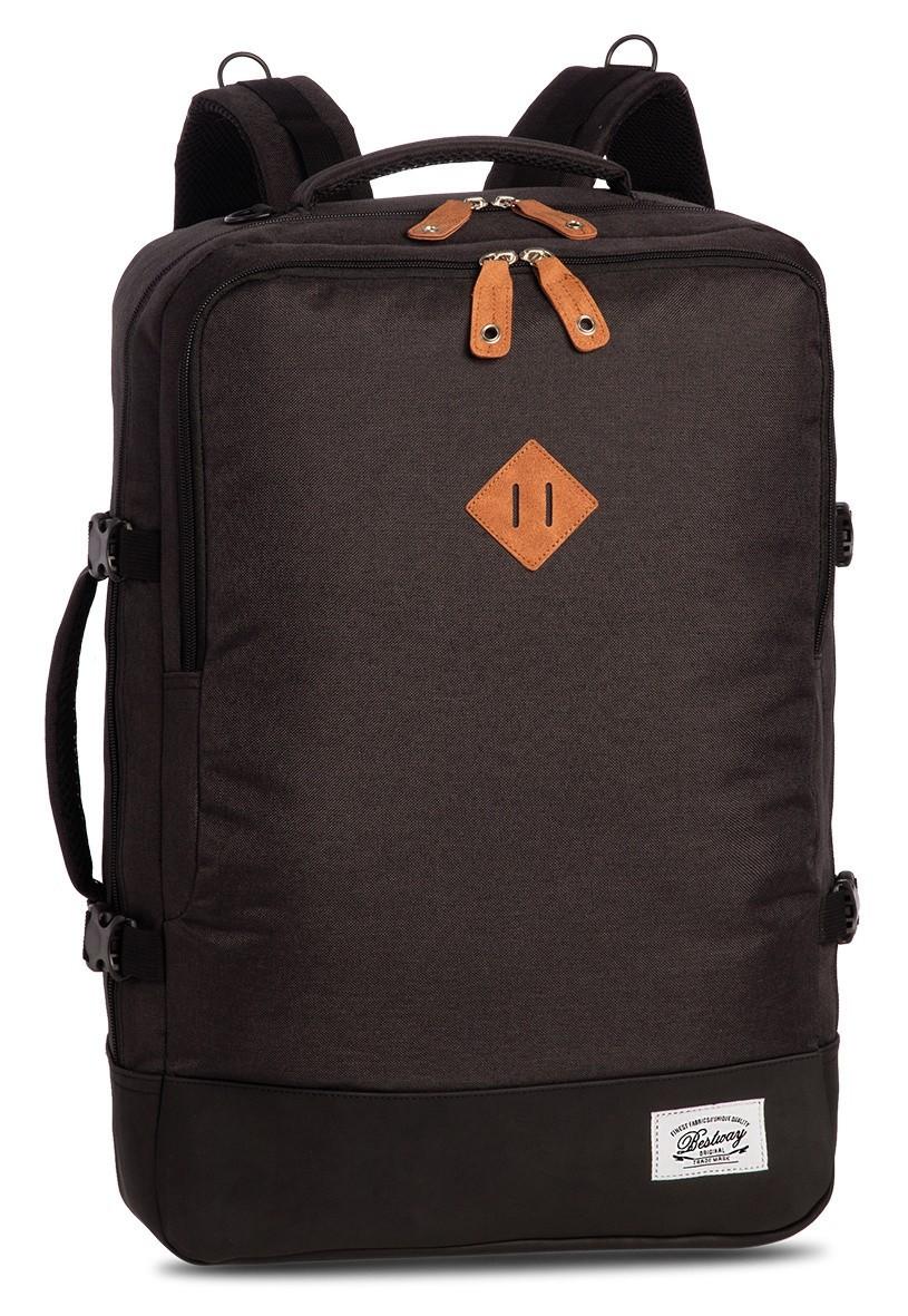 BestWay Handbagage Rugtas Capine Pro-Retro 40223 Donker Grijs Zwart