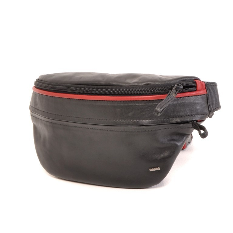Berba Soft 005-500 Hip Pouch Black-Red