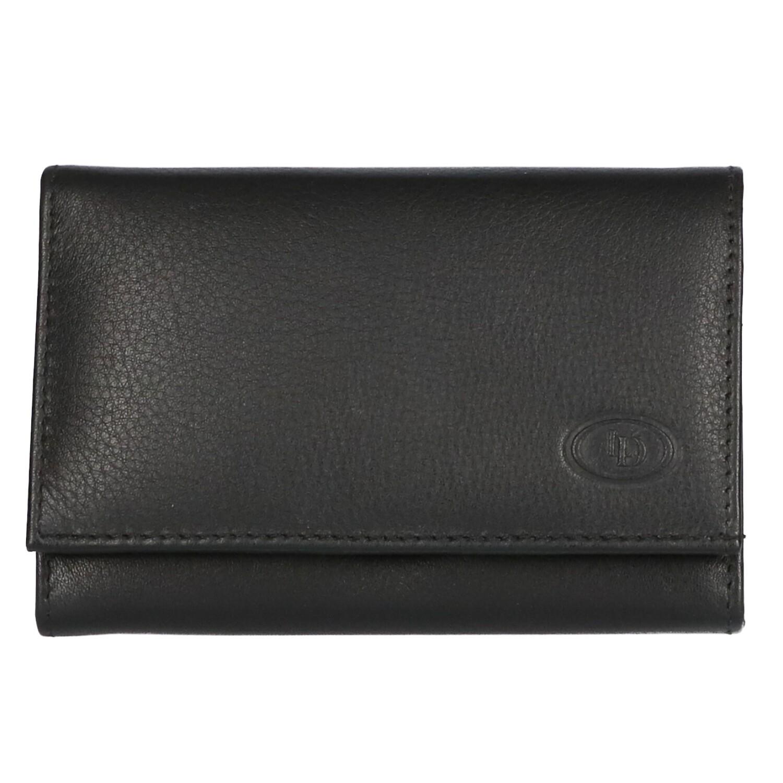 Leather Design Dames Portemonnee AK 329 Zwart