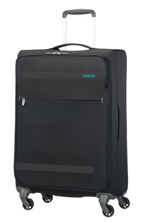 American Tourister Herolite Super Light Spin. 67cm Volcanic Black