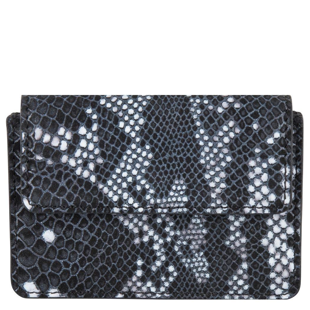 Cowboysbag x Bobbie Bodt, 3055 Wallet Peridot Snake Black and White