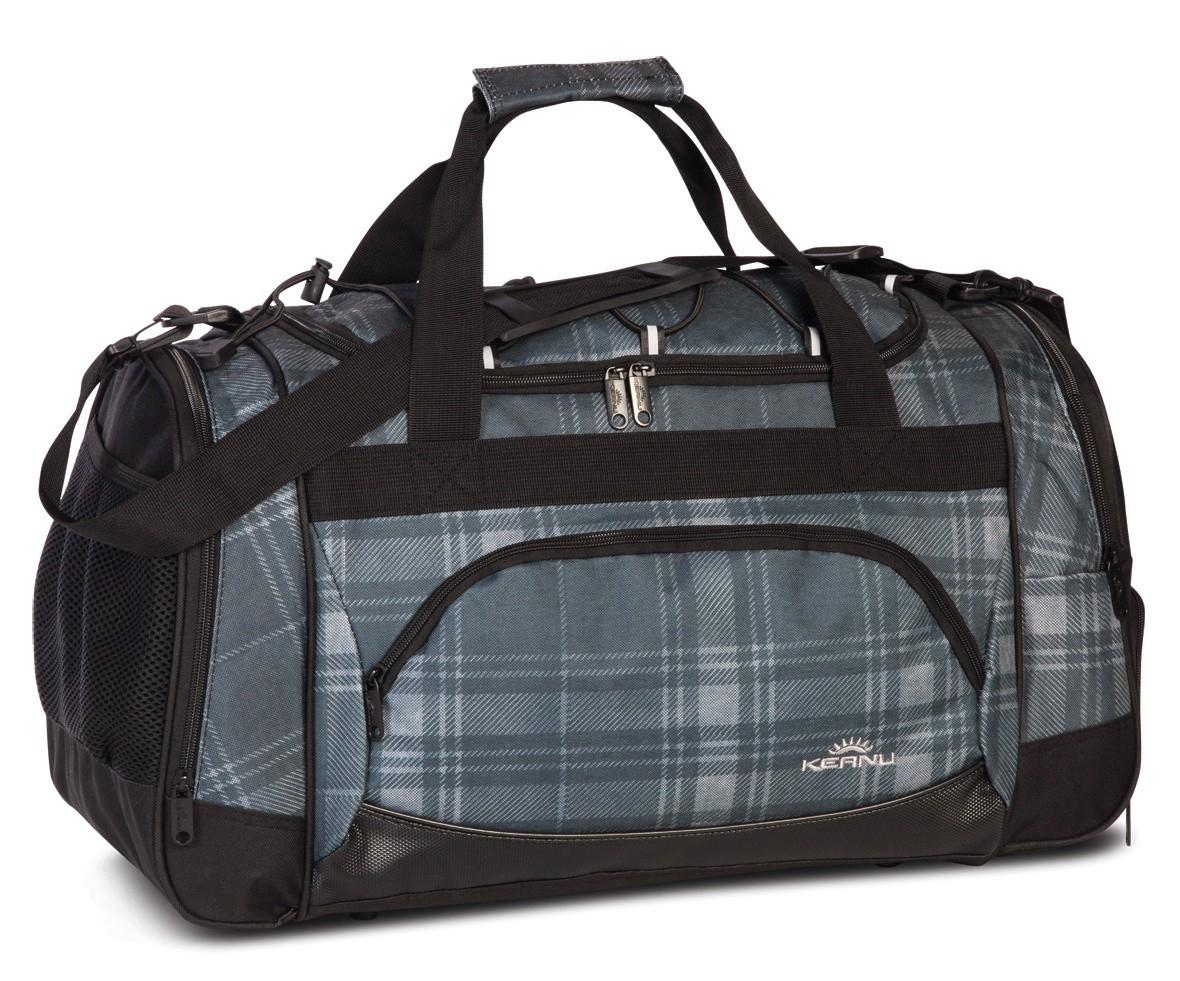 Keanu Sports Bag 70700 Grey Plaid