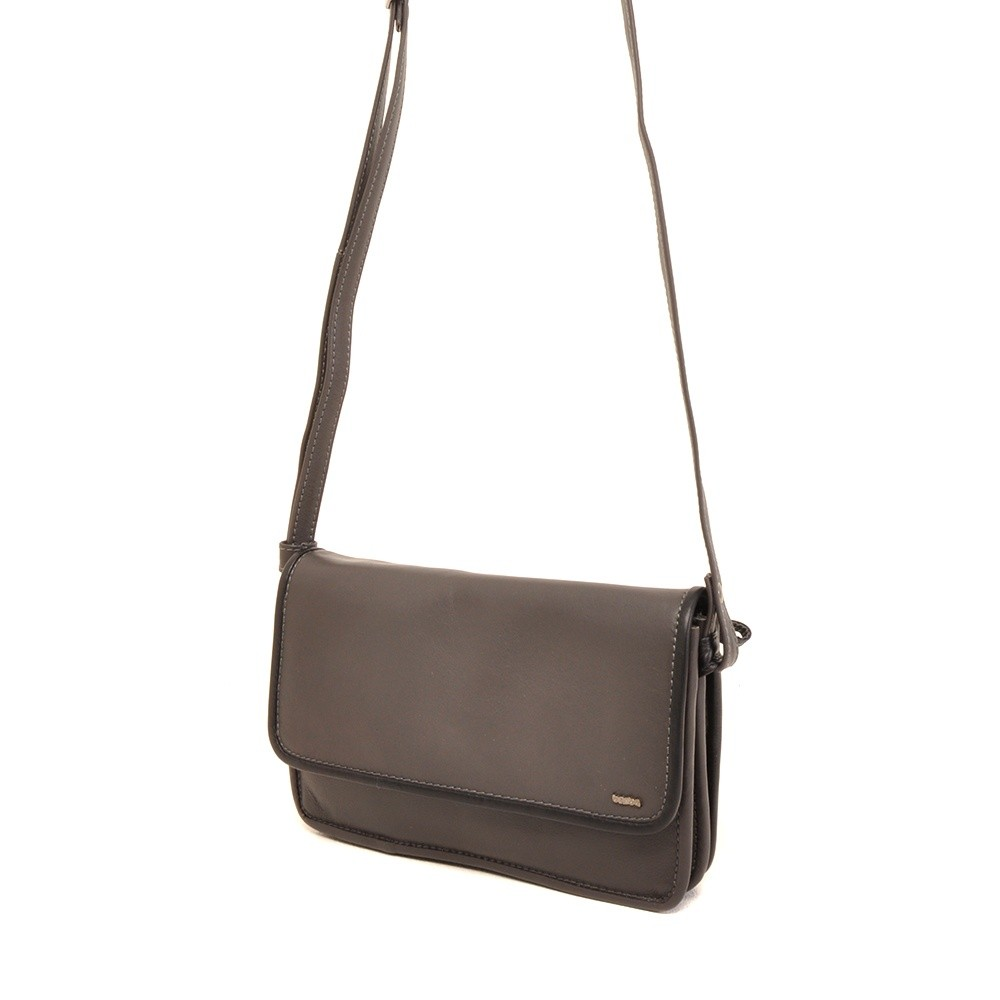 Berba Soft 005-562 Flap Bag Small Grey-Black