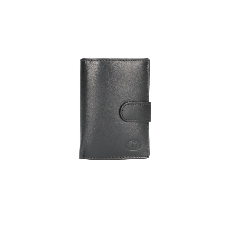 Leather Design Beugel Portemonnee HI 582 Zwart