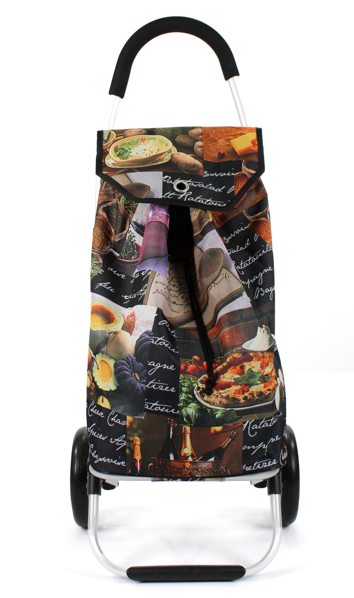 Awesome Bags Foldable Shopping Trolley M18N276 Pasta Print