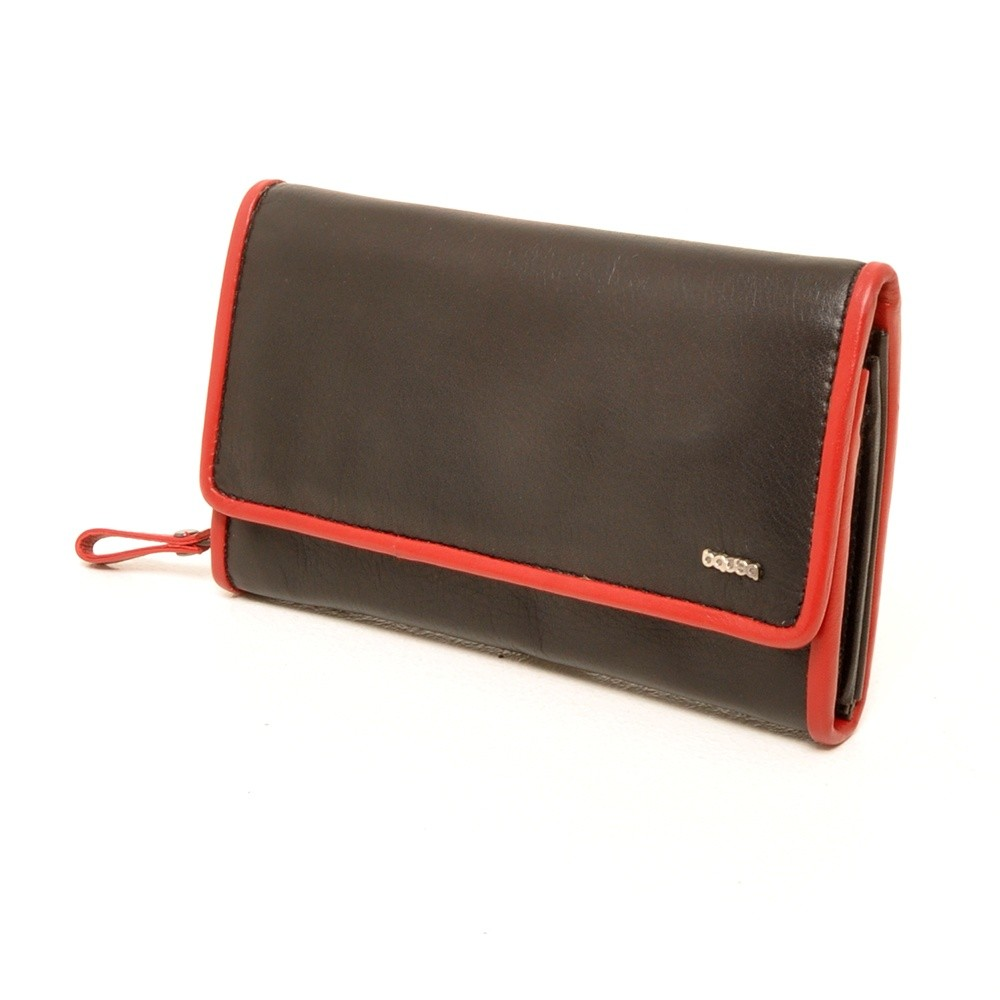 Berba Soft 001-203 Ladies Wallet Black-Red