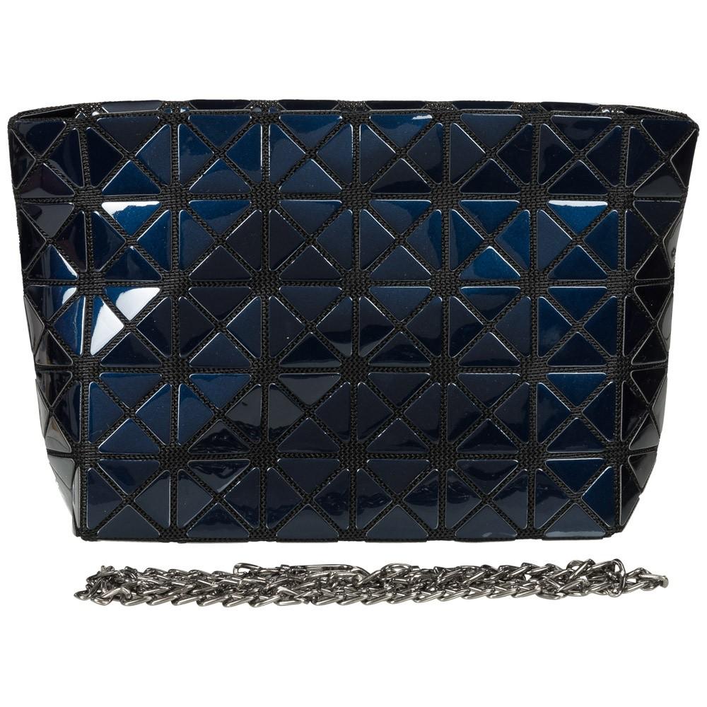 Malique Geometrical Clutch 1003 Donker Blauw