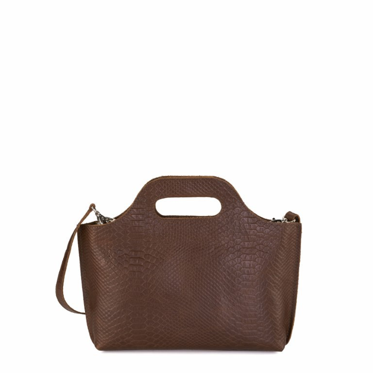 MYOMY MY CARRY BAG Mini - Anaconda Brandy